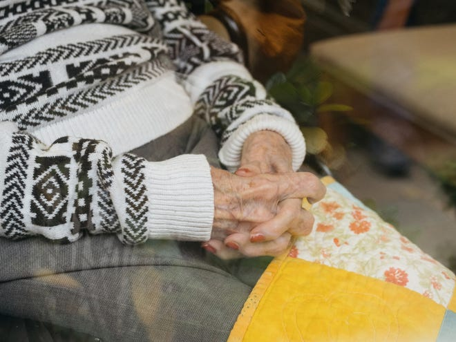 A nursing home resident in Washington State in October. Some vaccines are strengthened for older recipients, whose immune systems may be less active.