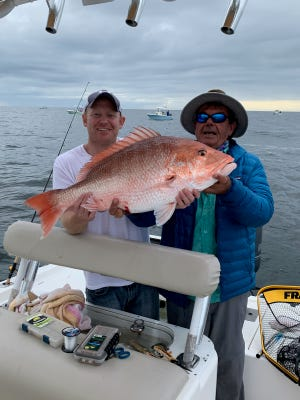 Capt. Fred Robert said he's seen some red snapper, lane and mangrove snapper in close reefs.