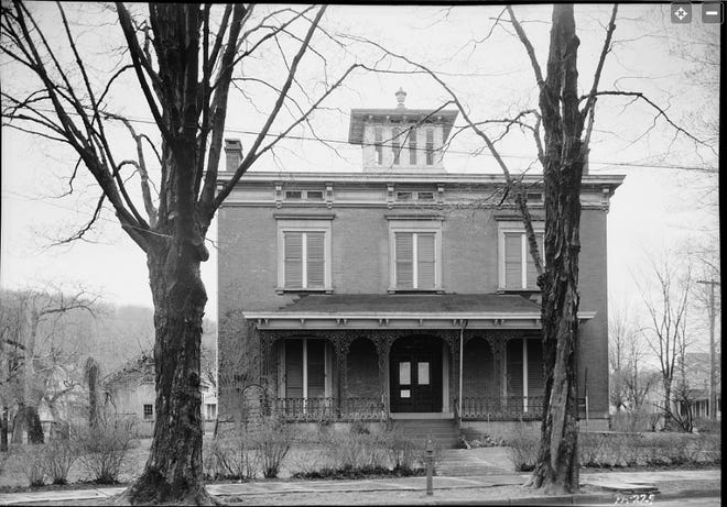 Andrew Thompson''s house, 505 Park St., Honesdale, Pa., in 1937. Wayne Memorial Hospital opened its new facility at this site in 1951.
