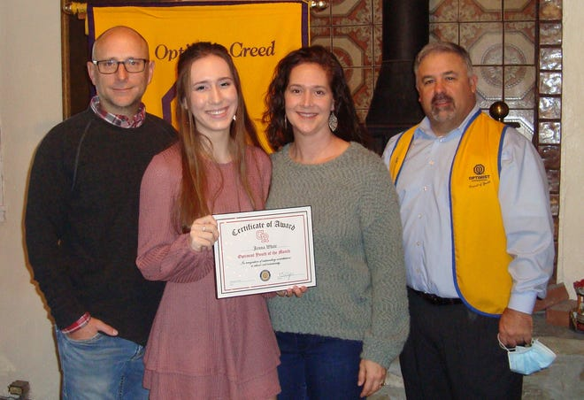 Senior Jenna White, who is planning to attend TAMU, was recognized as a Glen Rose High School Youth of the Month.