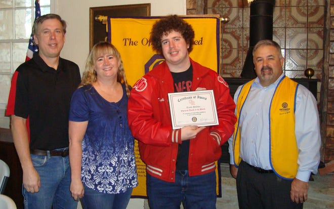 Seniors Trayle McClure, who has been accepted at Tarleton State University, was recognized as a Glen Rose High School Youth of the Month.