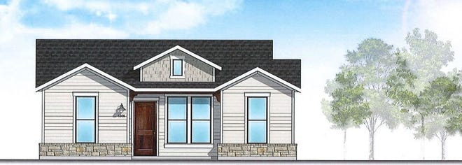 An artist rendering shows plans for a the units in a new apartment community planned for FM 1417. Rather than using large, multi-unit buildings, the development will be lower density with single and double-unit rentals.