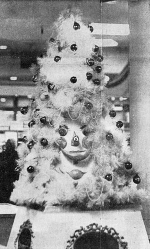 This photo was taken in 1966, the first year of the talking Christmas tree at Bergner's in Sheridan Village in Peoria.