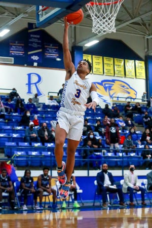 Frenship's Devin Hartfield (3) shoots a layup against Estacado on Tuesday, Dec. 15, 2020, at the Tiger Pit in Wolfforth, Texas.