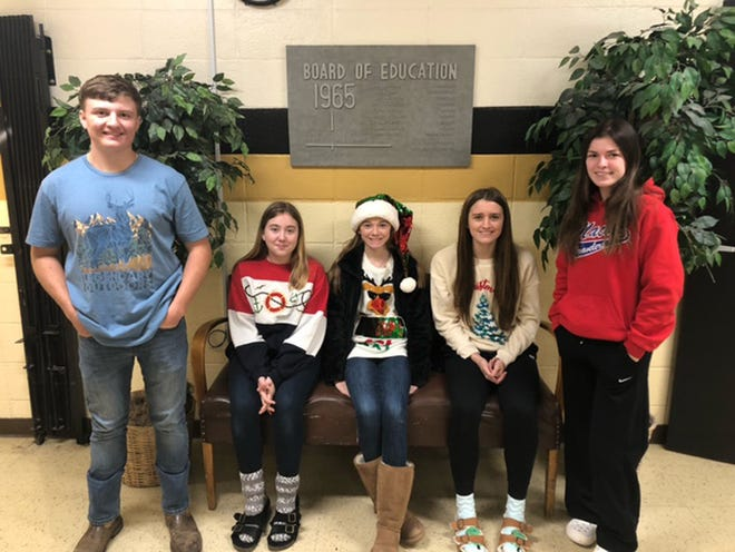 Northeast R-IV School at Cairo administrators selected their Students of the Month for December of 2020. They are Lee Leathers from the high school, middle school students Trinity Samuelson, Jewel Cole and Jersey Bailey, and high school student Kacie Callahan.