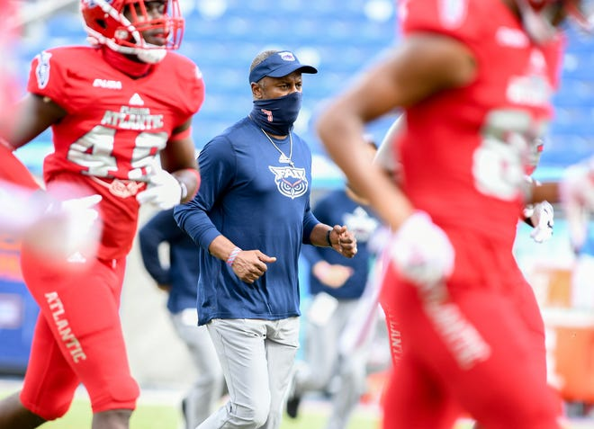 FAU coach Willie Taggart, shown during the Texas-San Antonio game in October, said he had never experienced a recruiting year like 2020 due to the coronavirus pandemic.
