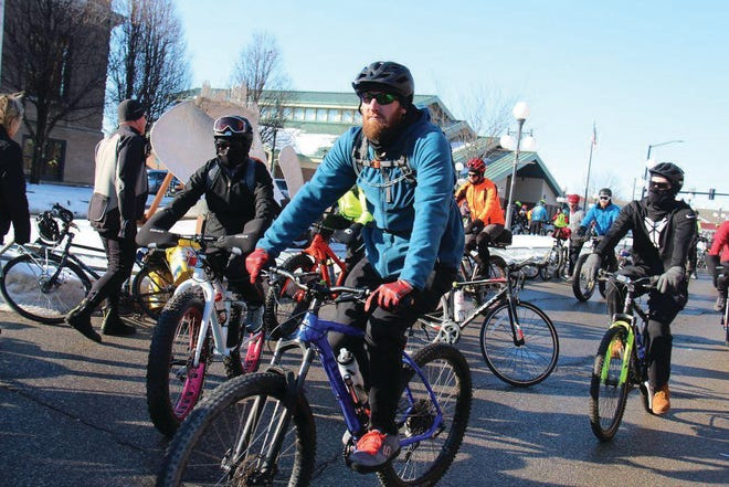 Riders take off for Rippey during the 43rd-annual BRR event. Plans are still being finalized, but the Feb. 6, 2021 ride will look different as there will not be an official mass start because of COVID-19.
