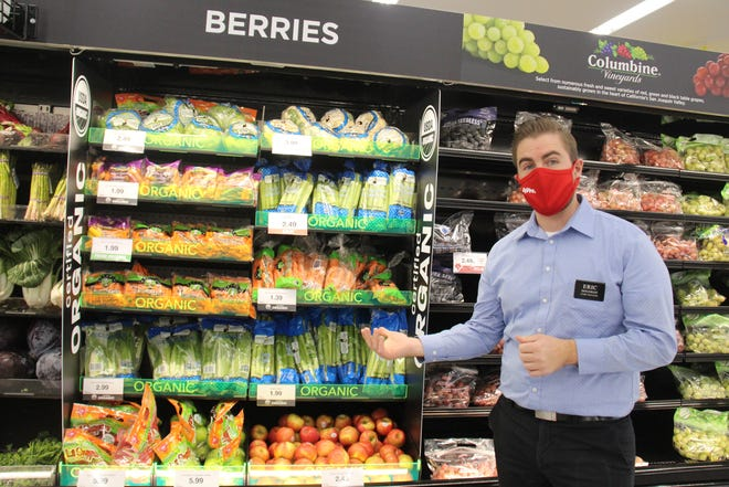 Perry Hy-Vee Store Manager Eric Doughan talks about the updates made to the produce department.