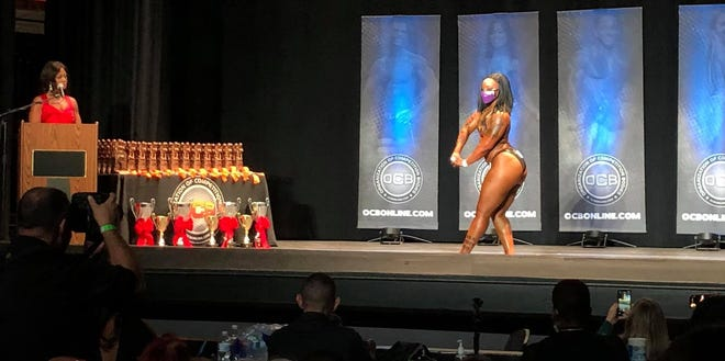 Dria Watson competes at the OCB 2020 Richmond Amateur Championships held at the Beacon Theatre in Hopewell, Va. on Dec. 12, 2020.