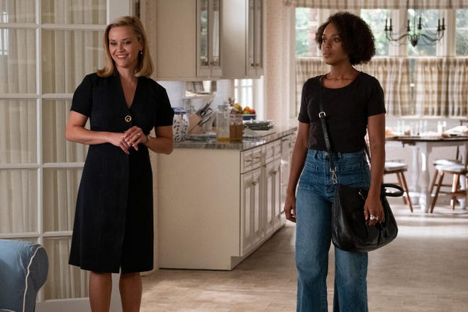 "From left, Reese Witherspoon and Kerry Washington in the 2020 hit, ""Little Fires Everywhere."" It streamed on Hulu."