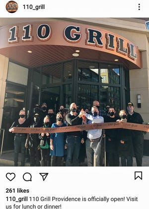 The celebration for the opening of a new Providence restaurant  was posted on Instagram. Ten days later they were shutting down until COVID restrictions are eased.