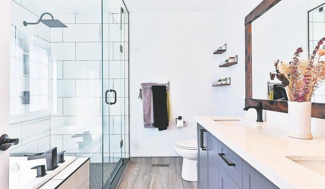 Splash some color around the bathroom for an easy DIY upgrade.
