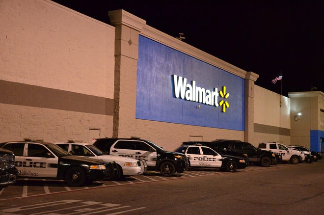 Shawnee Walmart during a Christmas Shop with a Cop event.