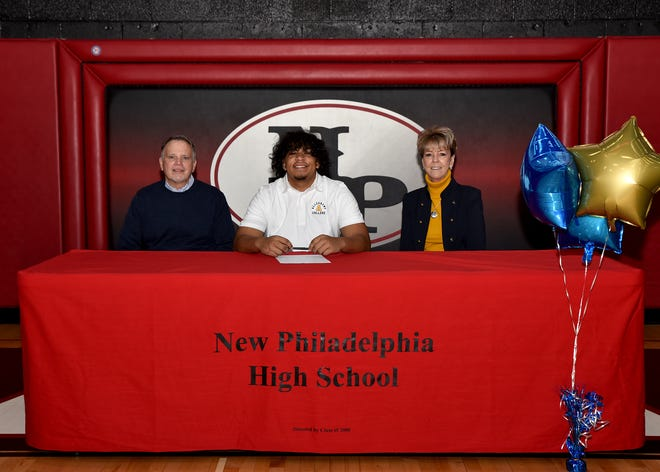 New Philadelphia High School football player Pierce Bryan has committed to continue his academic and football career at Allegheny College. Pierce, a defensive lineman, is the son of Dave and Kari Lu Bryan.