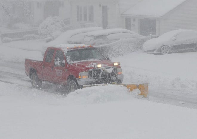 The winter's first major nor'easter unloaded 13-inches on Weymouth's roads, and a hard freeze followed, Dec. 16-17.