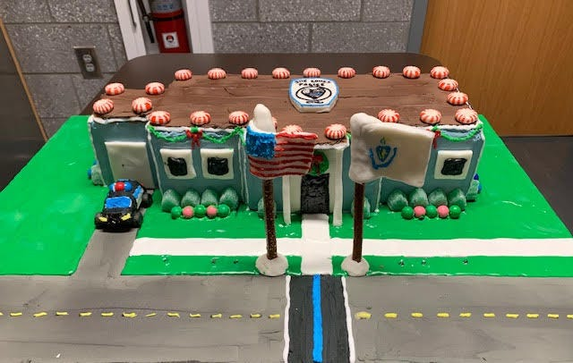 The Walpole Police Department submitted this entry in the She Loves Police Gingerbread House contest.