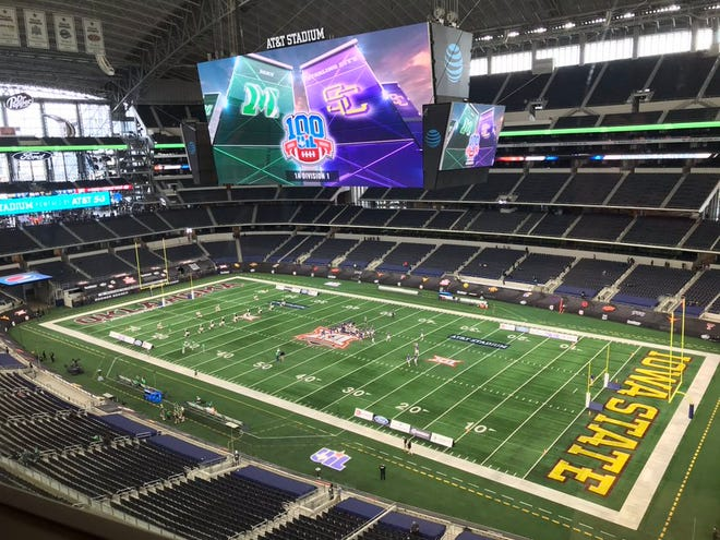 May and Sterling City face off in the 1A DI state title at 2 p.m. Wednesday at AT&T Stadium.