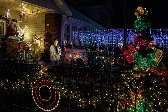 Chillicothe's John Zangri, pictured, and his wife Cathy got first place in the city's annual holiday lights decorating contest Rockwell or nostalgia category.