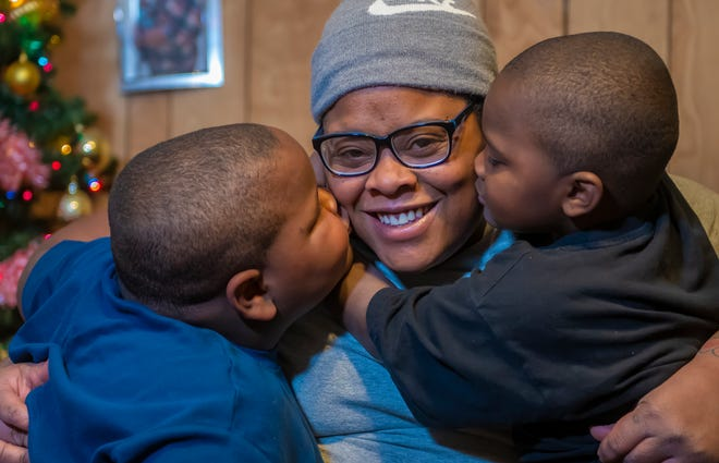 """Ariel Watkins of West Price Hill calls her sons Amar, 6, left, and Amir, 4, """"My miracle babies."""" Both boys have attention deficit hyperactivity disorder."""