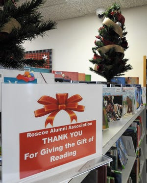 The Roscoe Alumni Association has donated $1,100 to the Coshocton County Library System, which led to the purchase of 60 books in the Children's Room.
