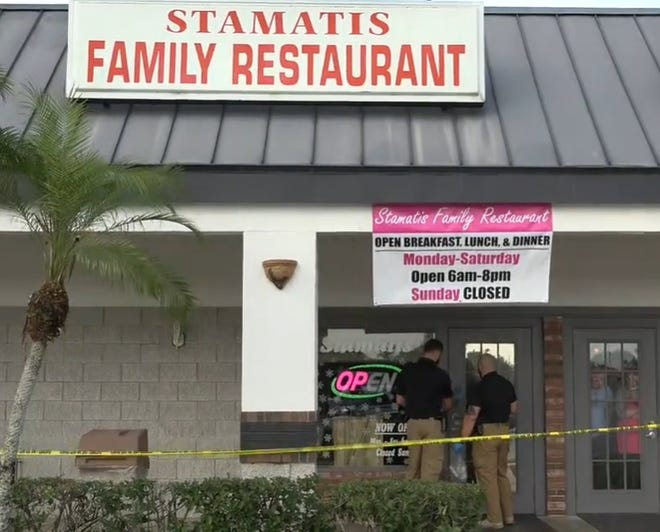 An armed robbery who hita North Fort Myers restaurant is being sought by the Lee County Sheriff's Office.