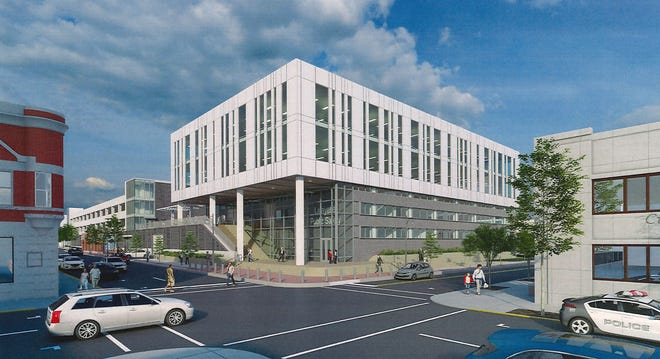 A rendering of the proposed Lafayette Public Safety building.