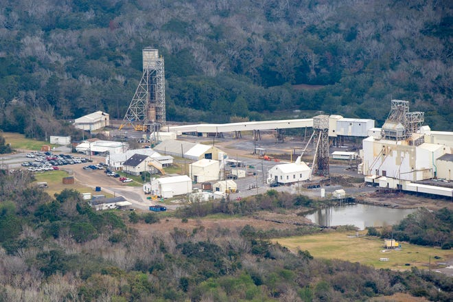 Cargill salt mine on Avery Island, Louisiana, is pictured Dec. 16, 2020. Two miners died after a roof collapsed at the salt mine Monday, Dec. 14, 2020.