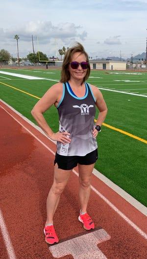 Loretta Tobolske-Horn of Brighton finished third in the Desert Solstice 24-hour track race in Phoenix.