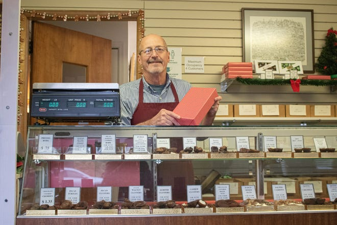 Rick Shirk has run Shirk's Homemade Candies since 1999. The business started with his grandfather in 1932.