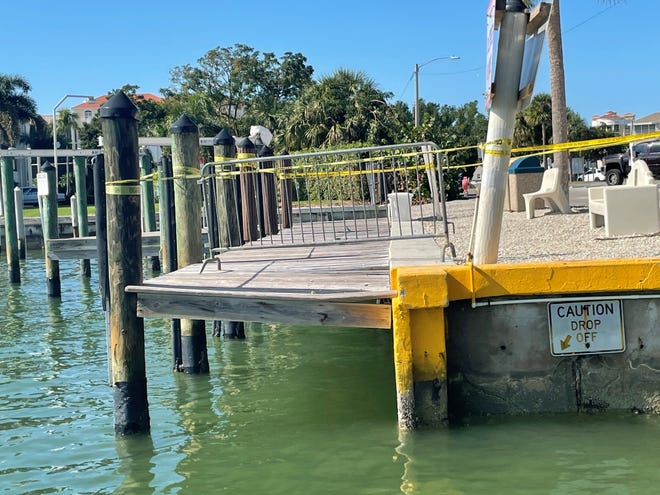Tropical Storm Eta caused new damage to Caxambas Park's docks in November 2020, further deteriorating the popular water access point on Marco Island battered by previous storms. On Dec. 16, damage could be seen on one of the fixed or main docks.