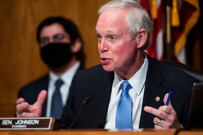 Senate Homeland Security and Governmental Affairs Committee Chairman Sen. Ron Johnson, R-Wis., speaks during a hearing to examine claims of voter irregularities in the 2020 election in the Dirksen Senate Office Building in Washington on Wednesday.