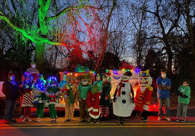 The Arkansas State University-Mountain Home float took first place in the Mountain Home Area Chamber of Commerce's Christmas parade on Dec. 4.