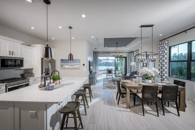 Abaco Pointe by Toll Brothers is currently offering a variety of attached villa homes ready for immediate move-in, featuring open-concept floor plans, numerous luxury appointments and spacious primary bedroom suites.