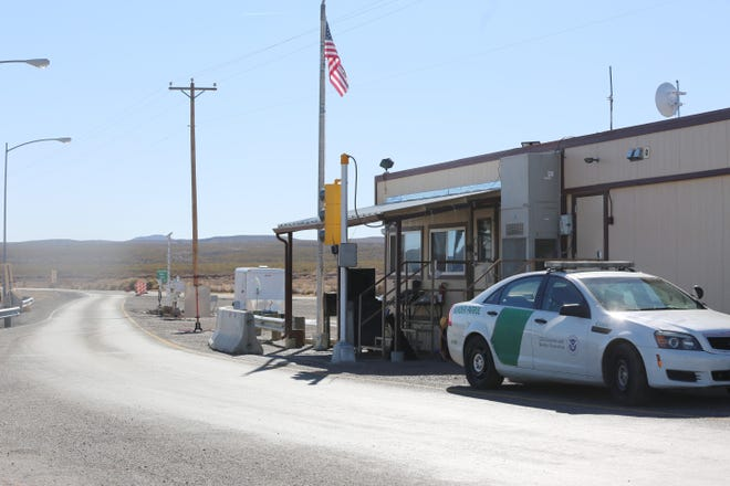 Border Patrol station on Highway 185 at mile marker 26, Wednesday Dec. 16, 2020.