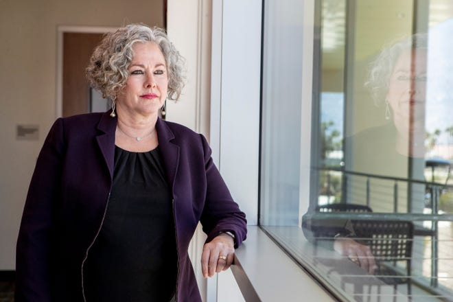 Palm Springs Unified School District Superintendent Sandra Lyon is photographed in Palm Springs, Calif., on April 23, 2020.