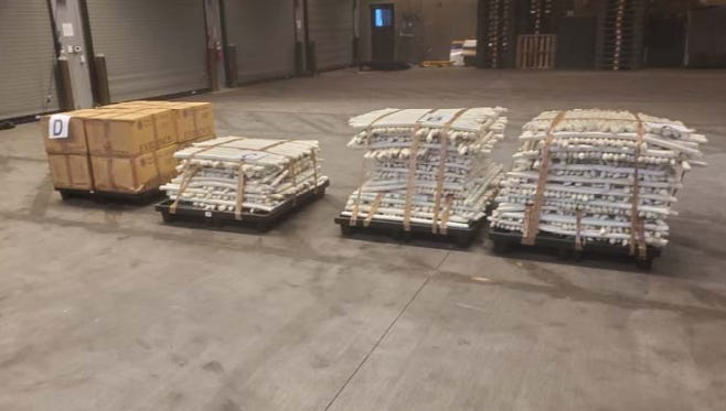 Police seized methamphetamines from a stolen trailer in Nogales.