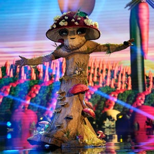 "THE MASKED SINGER: Mushroom in the special two-hour ""The Road To the Finals -The Last Mask Standing"" season four finale episode of THE MASKED SINGER airing Wednesday, Dec. 16 (8:00-10:00 PM ET/PT) on FOX. CR: Michael Becker/FOX. © 2021 FOX Media LLC."