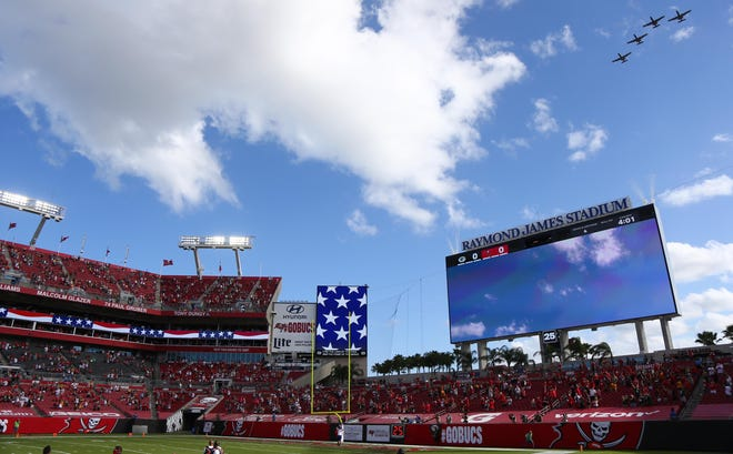 Raymond James Stadium is set to host its third Super Bowl on Feb. 7, 2021.