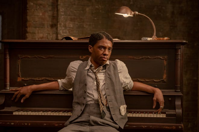"""Chadwick Boseman plays a self-centered cornet player who has designs for having his own band in """"Ma Rainey's Black Bottom."""""""