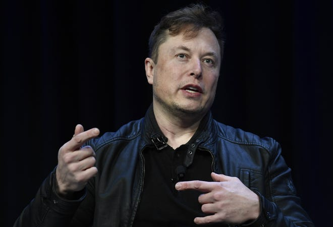 Elon Musk speaks at a conference in Washington on March 9.  The Boring Company, Musk's tunneling and infrastructure transportation company,is renovatinga commercial space in Pflugerville, according to a filing this month with the Texas Department of Licensing and Regulation.