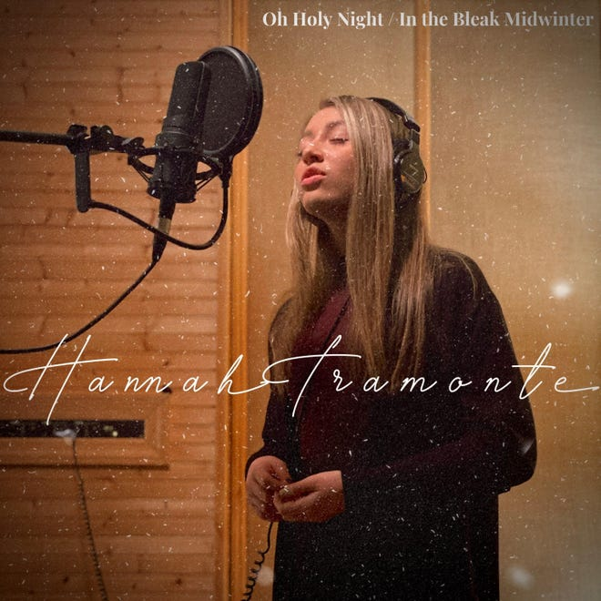 Hannah Tramonte, a sophomore at Highland High School, released her first professional recording this month after winning a holiday singing contest.