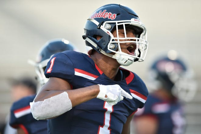 Denton Ryan's Ja'Tavion Sanders is a five-star prospect who can play either wide receiver or defensive end in college. He's the highest-rated recruit in Texas' 2021 signing class.