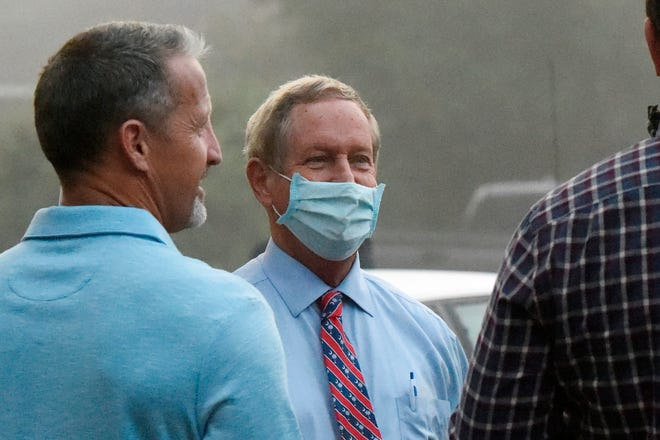 U.S. Rep. Joe Wilson, center, is the latest member of South Carolina's congressional delegation to test positive for COVID-19.