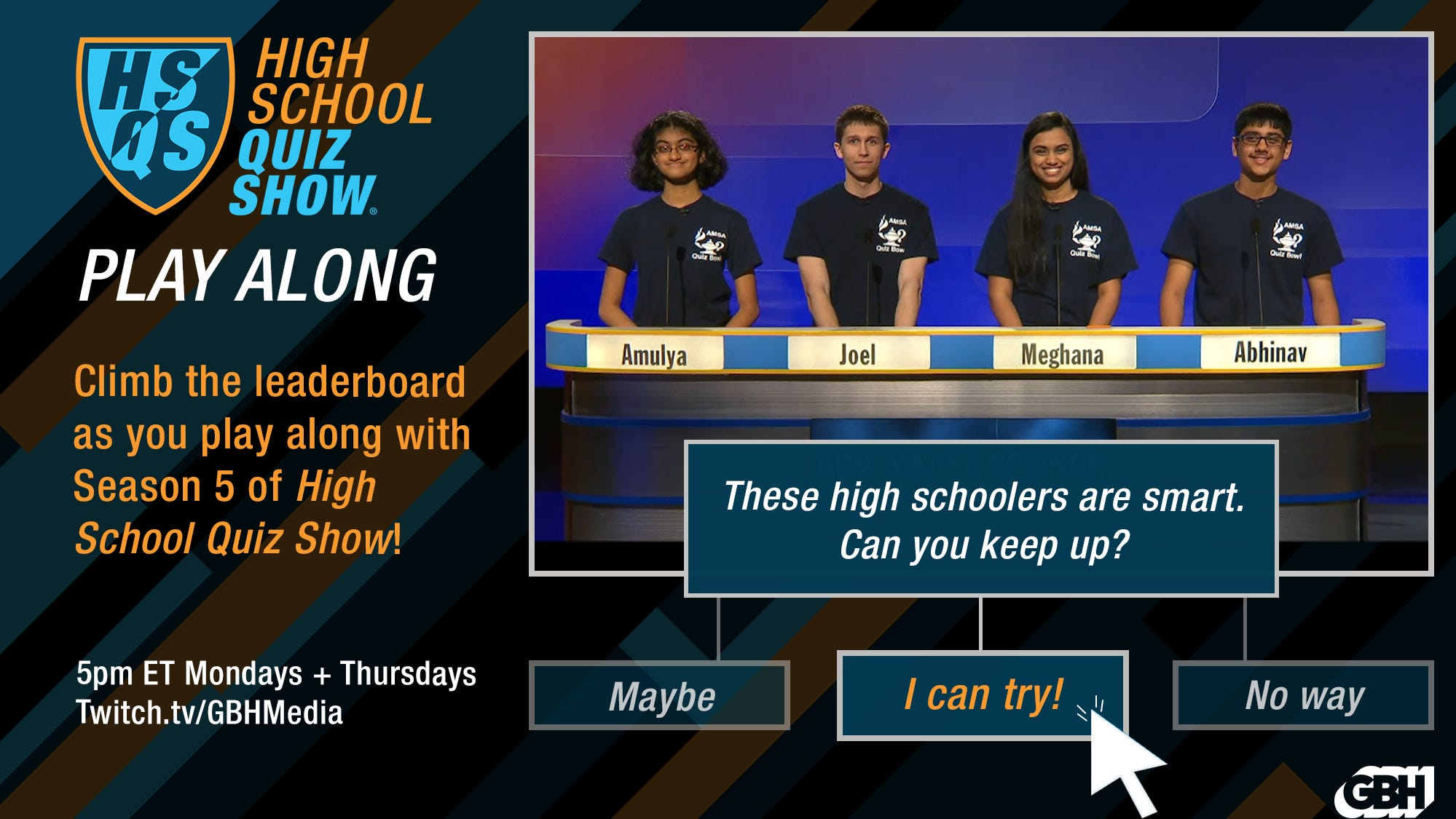 GBH's High School Quiz Show launches new interactive features on Twitch