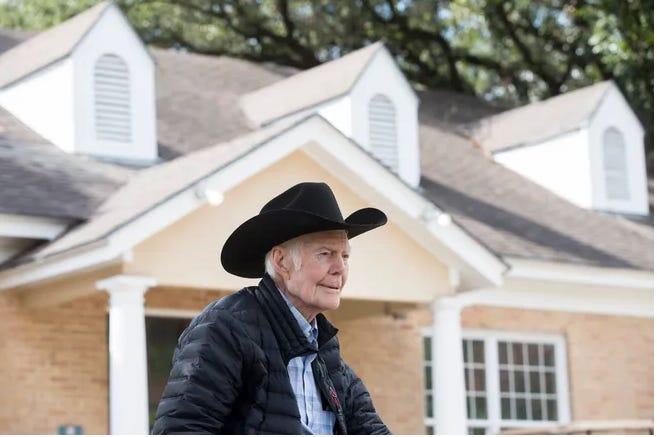 Walter Benson, 103, has been a publisher, breeder, golfer, dancer and World War II veteran.