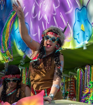 Mardi Gras parades in Terrebonne, like this one by the Krewe of Hyacinthians, will need approval from the parish council to roll in 2021 after the Mardi Gras season.