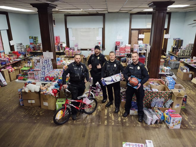 With the COVID-19 pandemic preventing the annual Shop with a Cop program, the Cambridge Police Department instead made a donation to Guernsey County Secret Santa to help area children in need have a merry Christmas.