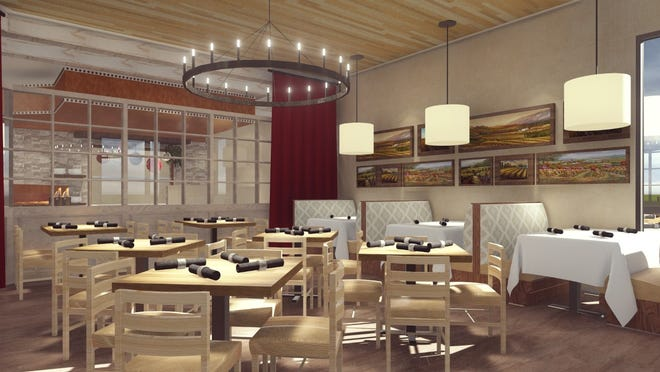 This is a rendering of what the inside of the SoNapa Grille restaurant will look like when it opens in February 2021 at The Trails Shopping Center in Ormond Beach. The 4000-square-foot eatery at 324 N. Nova Road is currently under construction. The space was previously home to Ormond Steakhouse which closed several years ago.