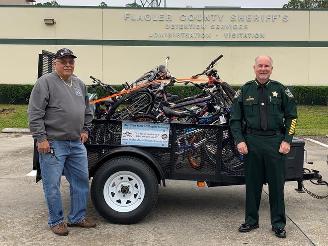 Joe Golan, Founder of the Bike Men of Flagler County, with Sheriff Staly.