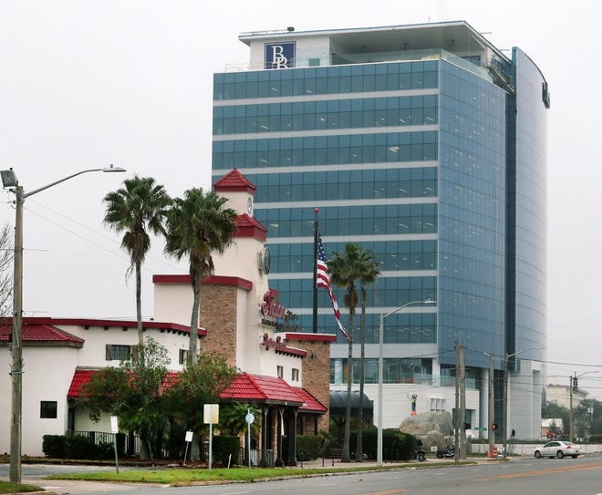 """Brown & Brown's new 11-story headquarters at 300 N. Beach St. in downtown Daytona Beach is seen here on Thursday, Dec. 17, 2020. The national insurance brokerage plans to start moving the first of several hundred """"teammates"""" into the building in early January 2021."""
